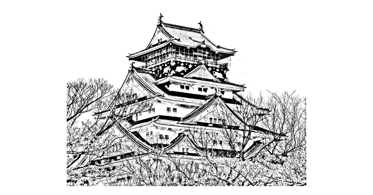 Get the coloring page: Japanese temple | Free Coloring Pages For ...