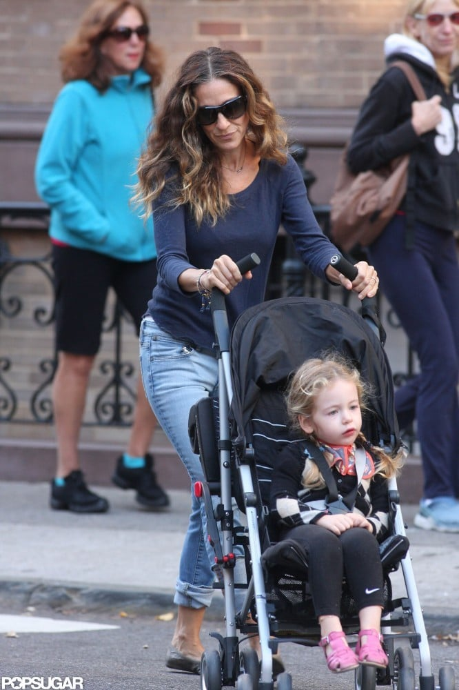 Sarah Jessica Parker wore a long-sleeved shirt and jeans in NYC.