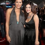 Colbie Caillat and Lucy Hale stopped for a photo.