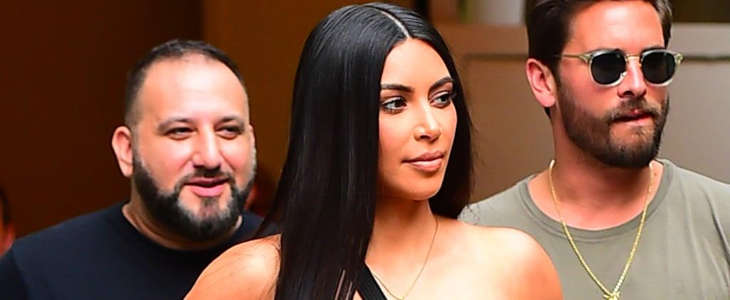 Kim Kardashian Glitter Gucci Bodysuit