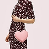 3D Heart Crossbody in Rococo Pink