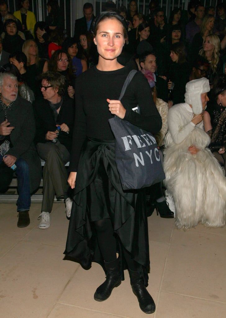 Lauren Bush had her Feed bag in hand front row at Cynthia Rowley.
