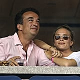 Mary-Kate and Olivier Sarkozy attended the US Open in 2014, and Mary-Kate rocked a pair with a casual white tee.