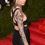 Cara Delevingne's Tattoos at the 2015 Met Gala