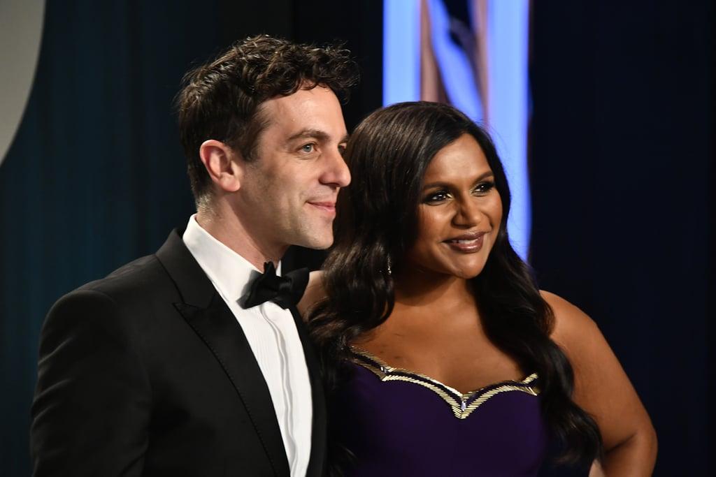 B.J. Novak and Mindy Kaling at the Vanity Fair Oscars Afterparty