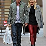 The two held hands as they did a bit of holiday shopping in LA in December 2012.