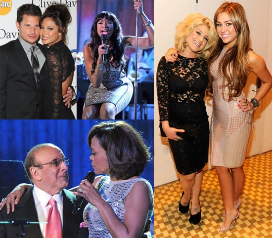 Pictures of Kelly Osbourne, Nick Lachey, Vanessa Minnillo, Cher, Usher, John Mayer at Clive Davis's Pre-Grammys Bash