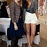 With designer Saloni Lodha at the Saloni show during London Fashion Week in September 2011.