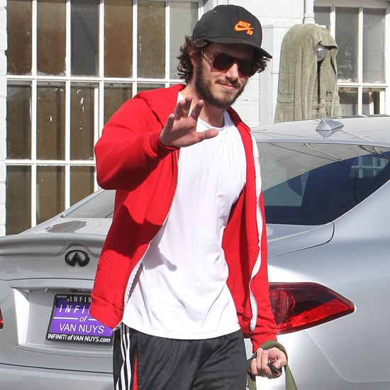 Adam Brody in LA After Getting Engaged to Leighton Meester