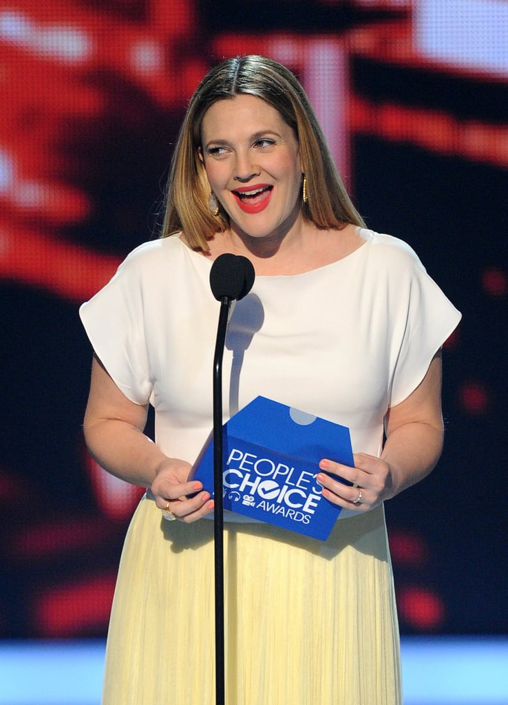 Drew Barrymore joked about her pregnancy.