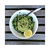 Make an all-green meal of zucchini noodles and dairy-free avocado and lemon sauce.
