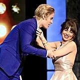 Justin Bieber and Natasha Leggero