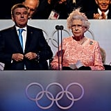 Queen Elizabeth II speaks at the opening ceremony of the London Summer Olympics in 2012