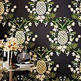 Because she loves working with food, the frog princess might even like to decorate with it — this pineapple wallpaper would be a great choice.