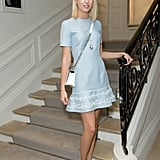 At the Christian Dior Haute Couture show during Paris Fashion Week in July 2016.