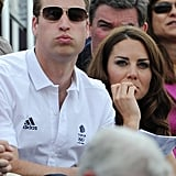 Prince William and Kate Middleton watched horse events.