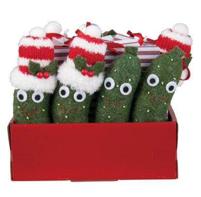 Felt Pickle Christmas Ornaments