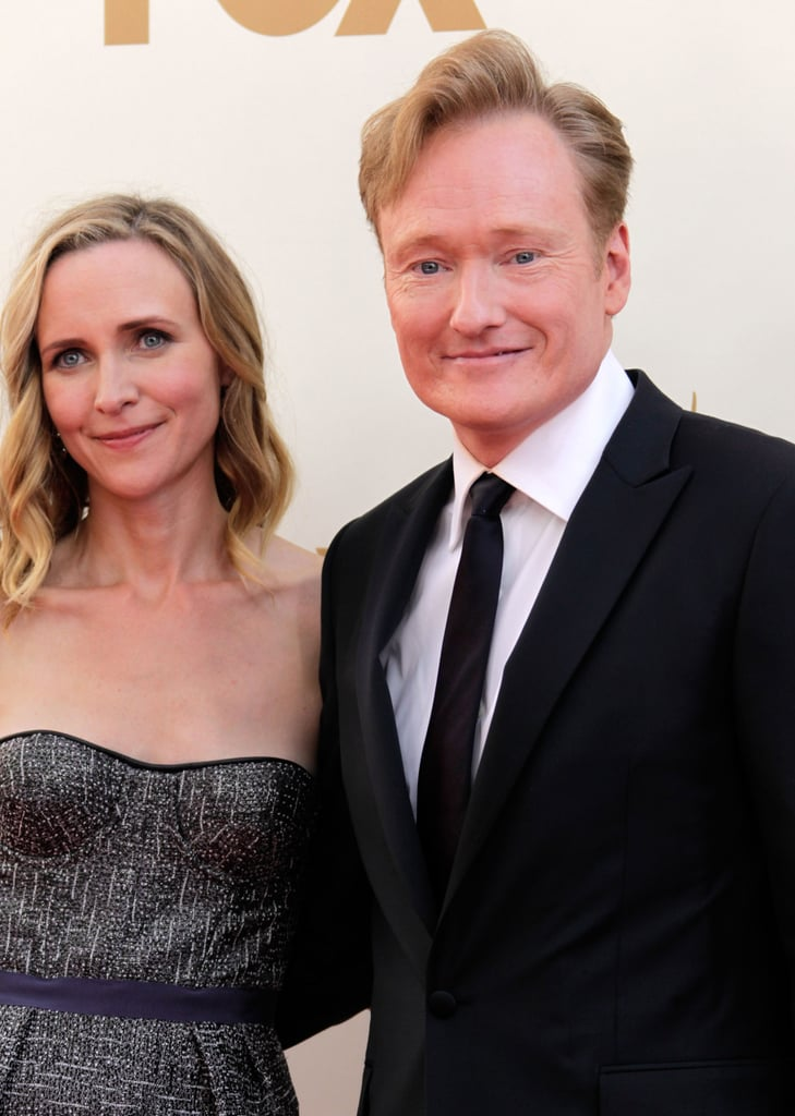 Conan O'Brien and wife Liza Powell | Couples on Emmys Red ...