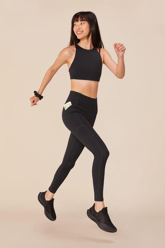 Girlfriend Collective Black High-Rise Pocket Legging