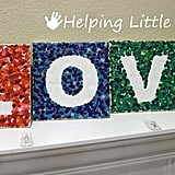 Melted Crayon LOVE Letter Tiles