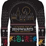 Harry Potter I'd Rather Stay at Hogwarts Christmas Sweater