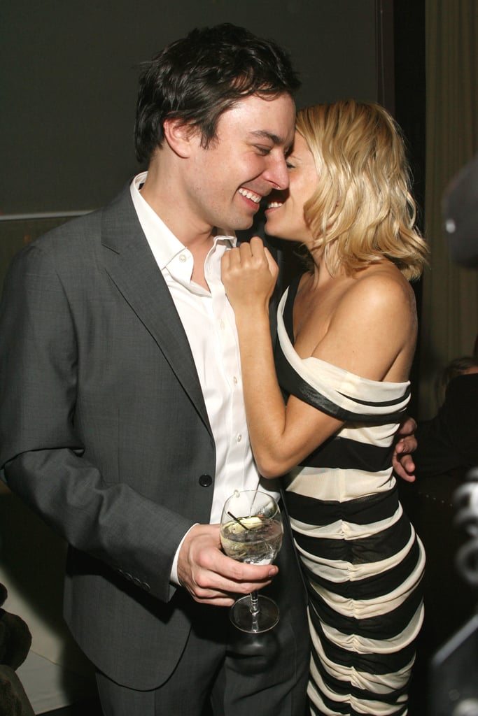 Sienna Miller and Jimmy Fallon hugged during an NYC screening of Factory Girl in January 2007.