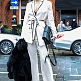 Zina Charkoplia at Fashion Week Fall 2016
