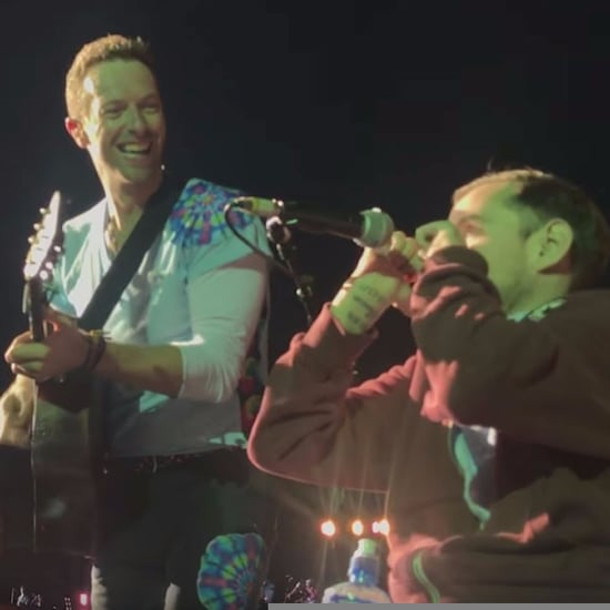Chris Martin Singing With Fan in Wheelchair Coldplay Concert