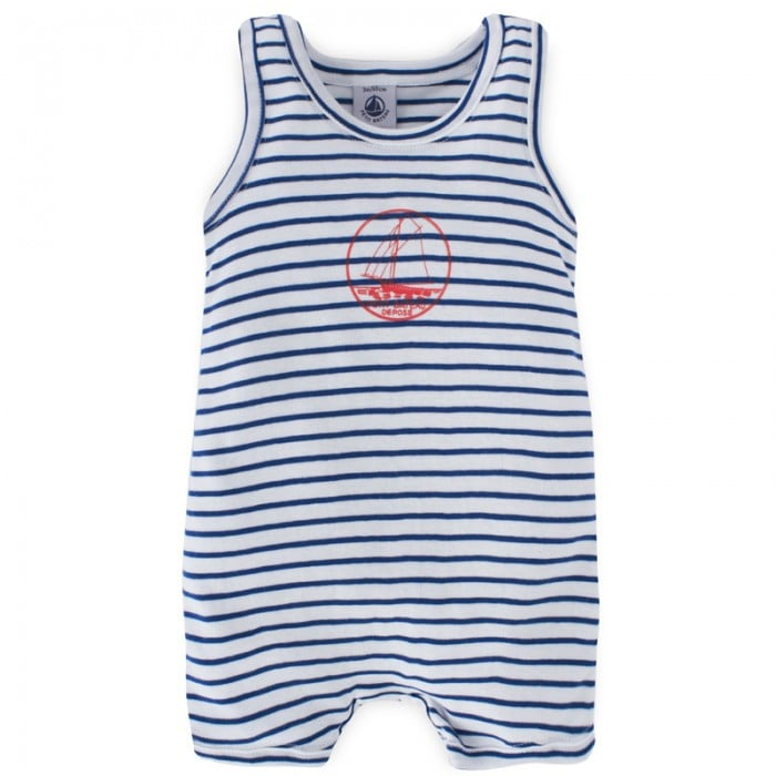 Keep your little one cool in this navy striped romper ($17).