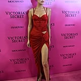 Bella Hadid's Red Dress at Victoria's Secret Afterparty 2017