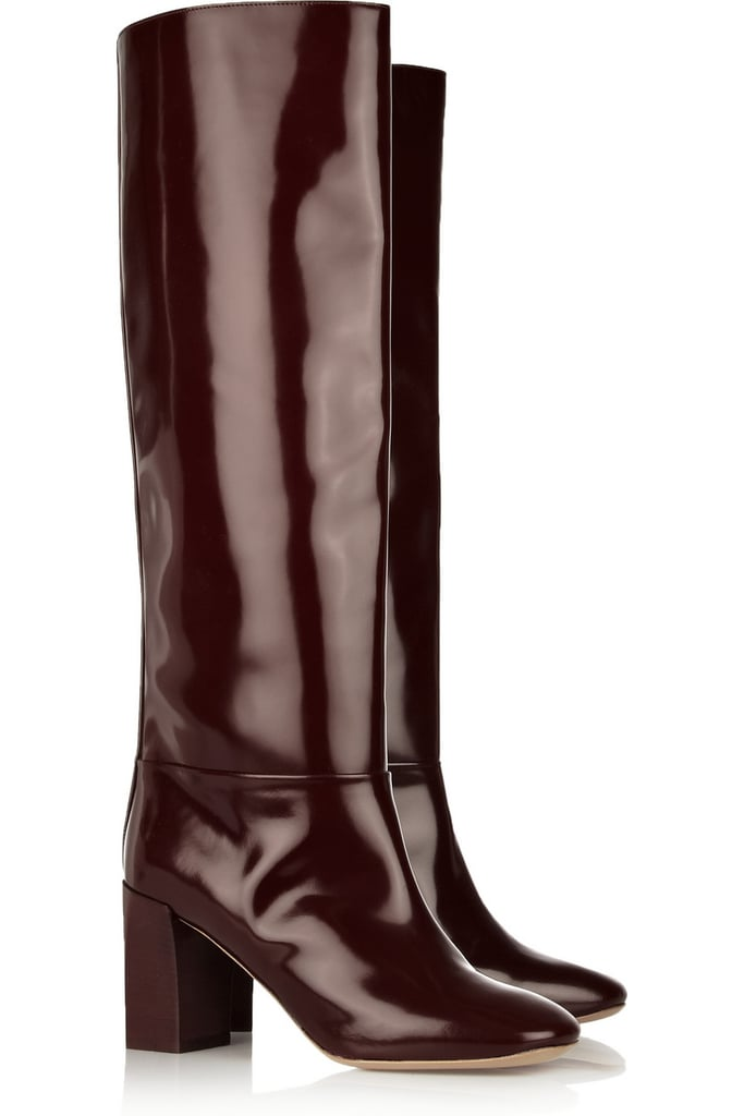 Add a chic touch to your Winter getup with these Chloe glossed knee-high boots ($687, originally $1,145).