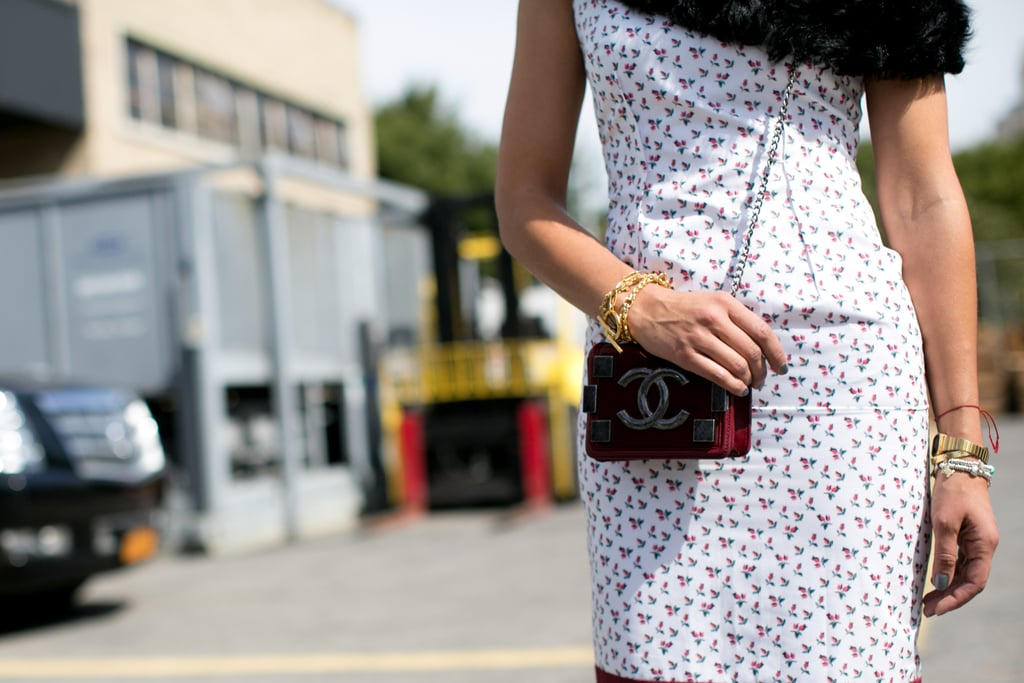 It doesn't have to be big; even a mini Chanel bag makes a statement.