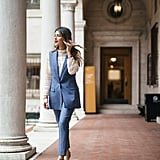 Layer a lace top under a pantsuit. It's so unexpected and creative.