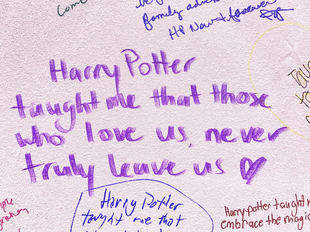 """""""Harry Potter taught me that those who love us, never truly leave us."""""""
