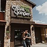 Olive Garden Engagement Shoot