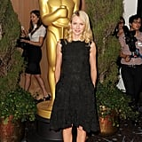 Naomi Watts hit the red carpet on Monday afternoon at the 2013 Oscars luncheon.
