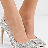 Sophia Webster Rio Glittered Leather Pumps