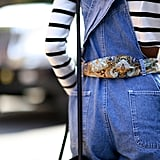 Using your scarves as a belt will always be a classic styling trick and an easy way to contrast prints.
