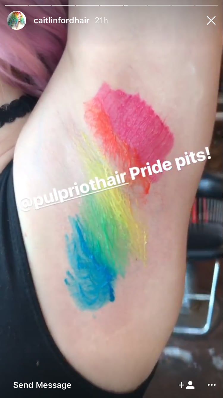 Rainbow Armpits For Pride Month Popsugar Beauty