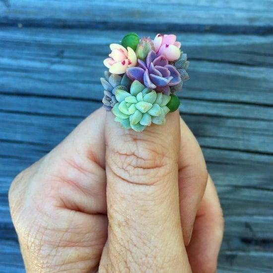 Succulent Nail Art