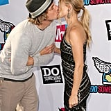 The sweet couple kissed on the red carpet at the 2011 Do Something Awards in LA.
