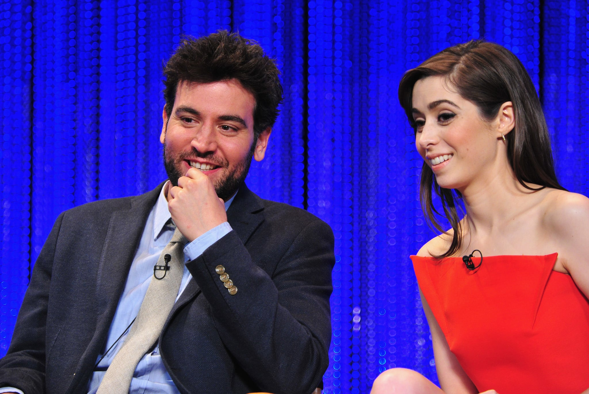 Josh Radnor and Cristin Milioti sat next to each other at the How I Met Your Mother event.