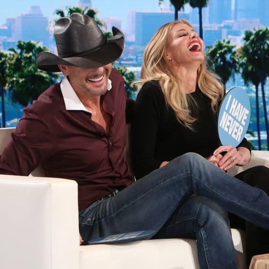 Tim McGraw Faith Hill Never Have I Ever on Ellen DeGeneres