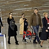Natalie Portman made her way through the airport in Paris carrying Aleph.