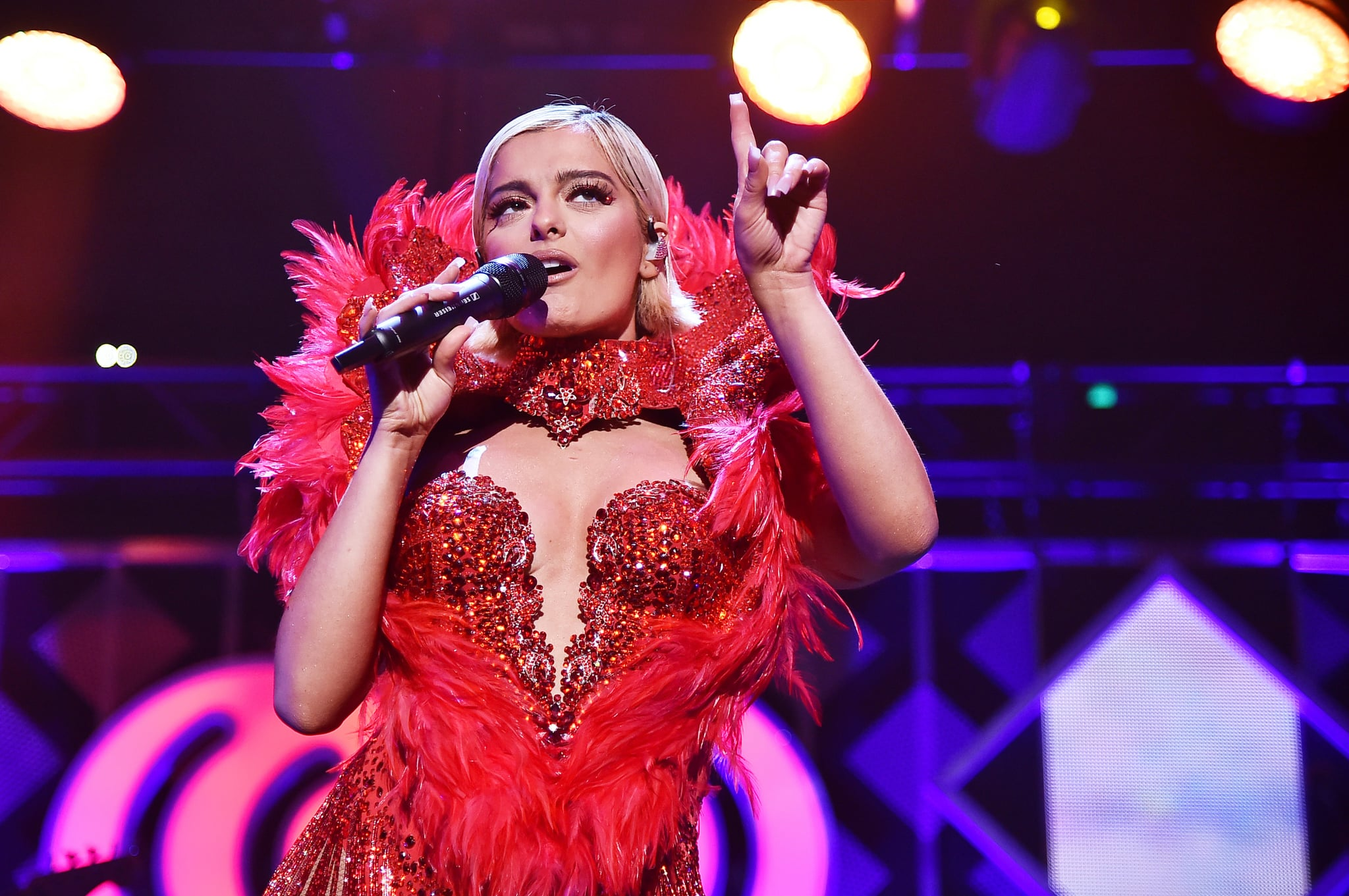 NEW YORK, NY - DECEMBER 07:  Bebe Rexha performs at Z100's Jingle Ball 2018 at Madison Square Garden on December 7, 2018 in New York City.  (Photo by Theo Wargo/Getty Images for iHeartMedia)