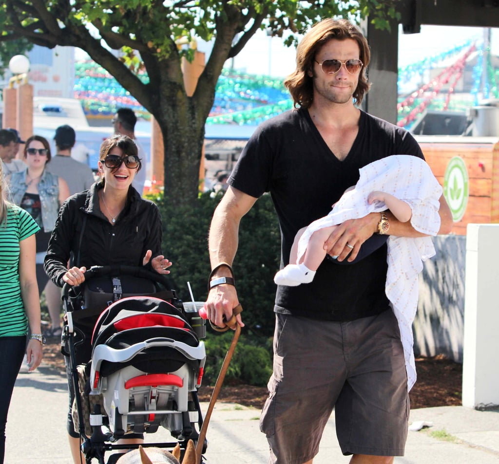 Supernatural star Jared Padalecki and his wife, Genevieve Cortese, took their son, Thomas, out in LA Sunday.