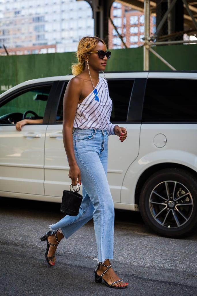 Danielle Prescod's take on denim comes with all the right accessories.
