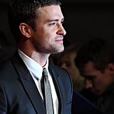 Justin Timberlake on the red carpet in London.