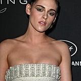 Kristen Stewart Pearl Eyeliner at Cannes 2018