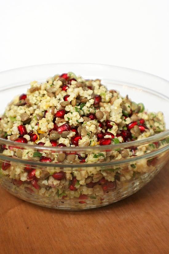 Millet, Lentil, and Pomegranate Salad